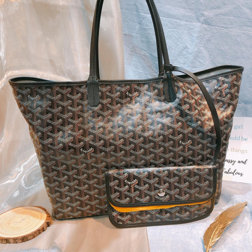 Goyard Tote PM Black X Brown (Used)