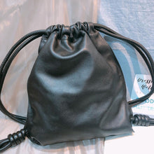 Load image into Gallery viewer, Loewe Drawstring Backpack Calfskin Black (Used)