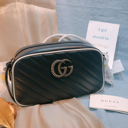 Gucci GG Marmont Camera Bag Small Navy (New)