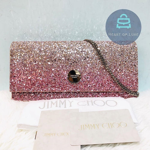 Jimmy Choo Clutch with Chain Pink (New)