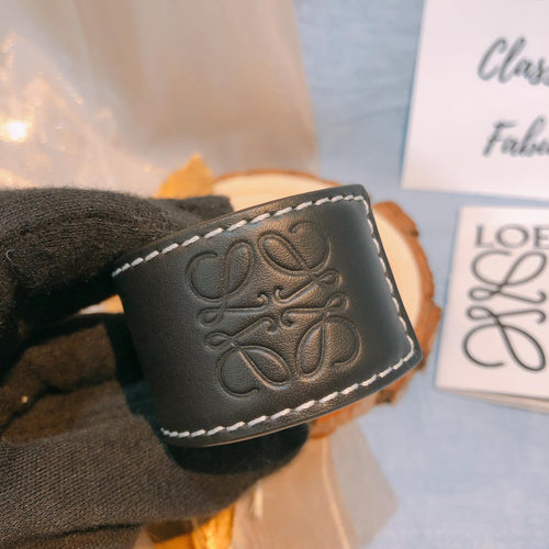 Loewe Leather Bracelet Black (New)