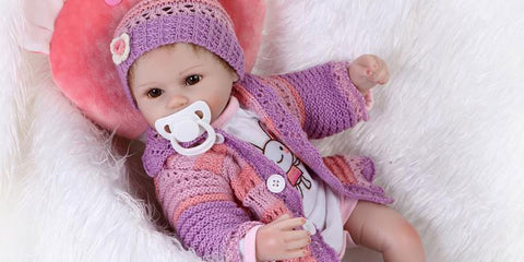 16inches reborn baby dolls for age 3-6 years old children