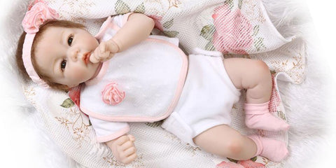 Cuddly Lifelike Reborn Doll Rosa with Baby Blanket