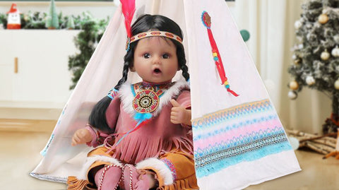 Try our exclusive Native American lifelike baby dolls collection