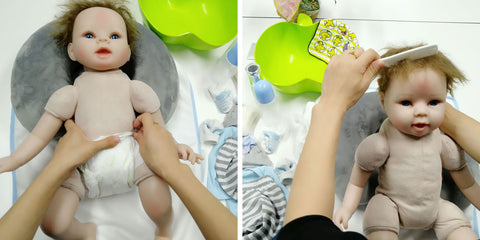 step 3: clean your baby doll