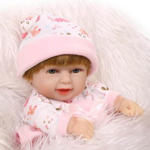 10 Inch Mini Sweet Lifelike Baby Girl with Basket-Banydoll
