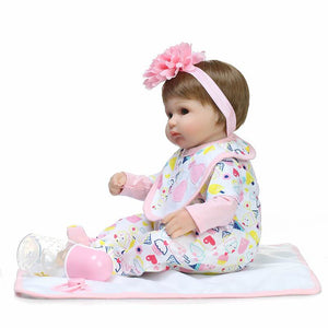 16 Inch Sinicon Vinyl Doll with Headband-Banydoll