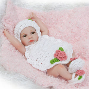 10 Inch Lifelike Reborn Baby Doll With Knitted Cloth-Banydoll