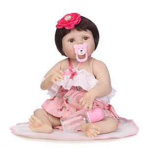 "So Truly Lifelike Baby Girl Effie 22"" Full Silicone Doll-Banydoll"