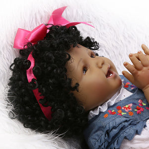 Reborn Baby Happiness African-American Girl-Banydoll