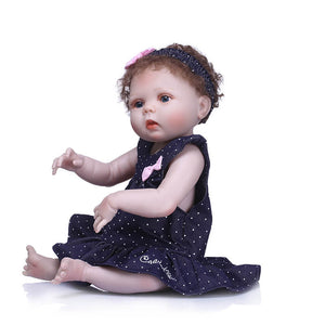 Sweet Lifelike Baby Girl & Bear Doll-Banydoll