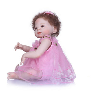 Lifelike Pink Dress Girl Baby Irma-Banydoll