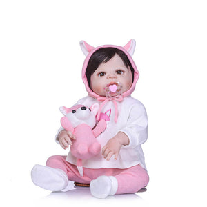 Realistic Lovely Girl Baby Inez & Fox Doll-Banydoll