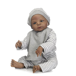 White-Gray Strip Jay Lifelike Baby & Squirrel Pal-Banydoll