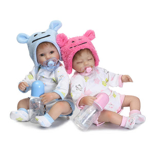 So Sweet Twins Hanson & Maria Lifelike Baby Doll-Banydoll