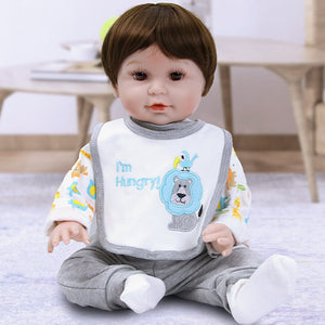 21 Inches Lifelike Baby Doll Boy With Hungry Lion Outfit