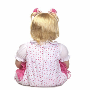 20 inch Truly Real Reborn Baby Doll Allie back view