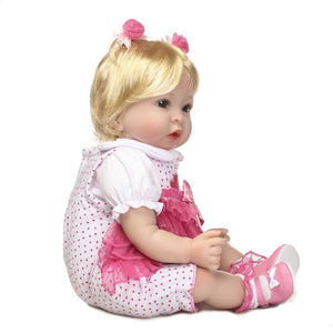 20 inch Truly Real Reborn Baby Doll Allie sideview