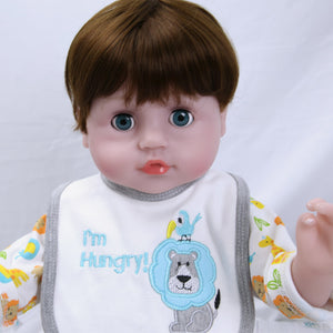 21 Inches Blinking Eyes Lifelike Baby Doll Boy