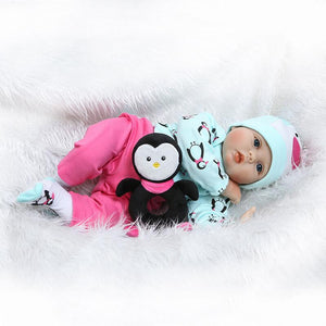 22 Inch Adorabe Reborn Baby Girl with Penguin Doll-Banydoll