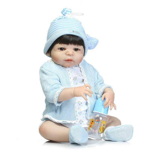 22 Inch Lifelike Full Silicone Body Baby Doll Nellie-Banydoll
