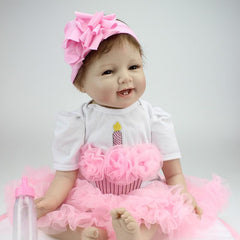 "22"" Lifelike Smiling Lifelike Baby Girl Doll Penny"