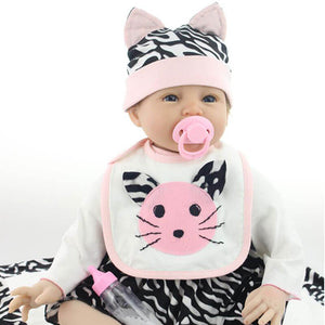 Realistic Kitten Ines Baby Girl Doll-Banydoll