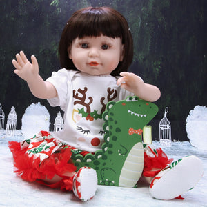 Christmas Gift 21 Inches Lifelike Baby Doll Girl Deer Outfit