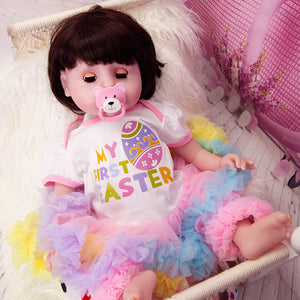 Easter Princess Gift Blinking Eyes Lifelike Baby Girl Doll 21 Inches