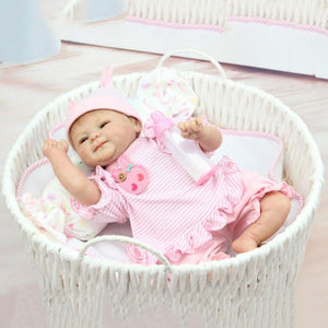 Lifelike Baby Doll Stretch Oneself with Silicone Bottle-Banydoll