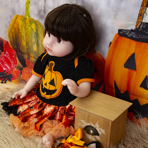 Halloween Gift Blinking Eyes 20 inch Lifelike Baby Girl Doll