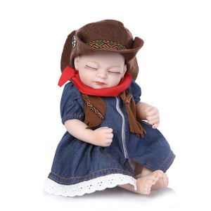 10 inches Mini Twins Cowboy Realistic Baby Dolls