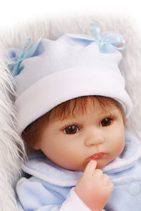 "16"" Sweet Lifelike Baby Doll Preemie Girl Vicki"