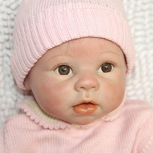 "22"" Lifelike Baby Girl Doll Dressed in Pink"