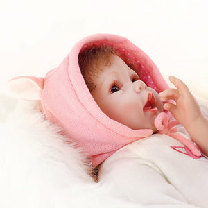 Realistic Sweet Girl Baby Nicole with Fox Doll-Banydoll
