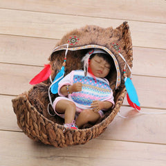 18 inches Native American Lifelike Baby Boy Doll Sleeping