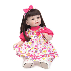 20 Inches Floral Dress Lifelike Baby Doll Girl