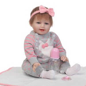 Happy Baby Diana Lifelike Silicone Girl Doll-Banydoll