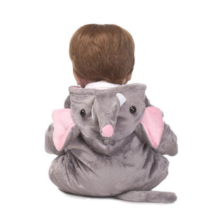 16 Inch Silicone Viny Reborn Baby With Elephant Onesies-Banydoll