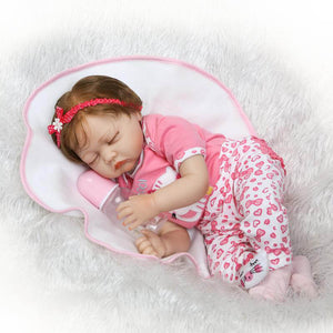 Sleeping Baby Gloria Silicone Doll with Bottle-Banydoll