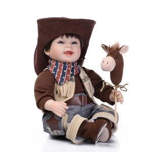 "22"" Lifelike Baby Doll Laughing Cowboy"