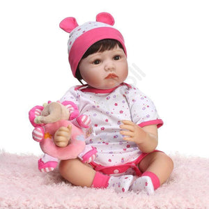 Cute Realistic Reborn Doll Laredo With Her Elephant Doll-Banydoll