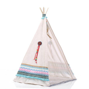 "Series: 20"" Native American Lifelike Baby Girl Doll with Tent"