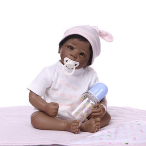 "20"" African-American Lifelike Baby Doll Addie"