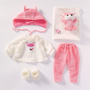 Girls Clothes Set & Plush Toy for 20 -22 inch Reborn Dolls