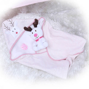 Banydoll happy deer reborn baby doll blanket
