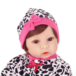Lifelike Baby Alvera & Plush Cow Doll-Banydoll