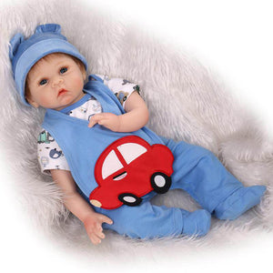 Lifelike Baby Boy Cute Car Bib Stoner-Banydoll