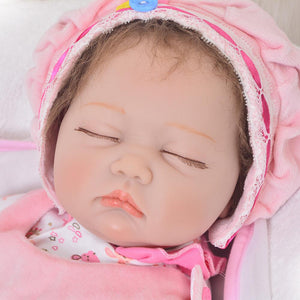 silicone real like reborn baby doll girl head