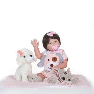 Little Baby Girl Eartha with Doll Dog-Banydoll
